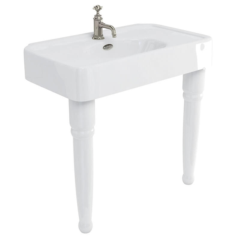 Arcade 900 basin 1 tap hole and console legs