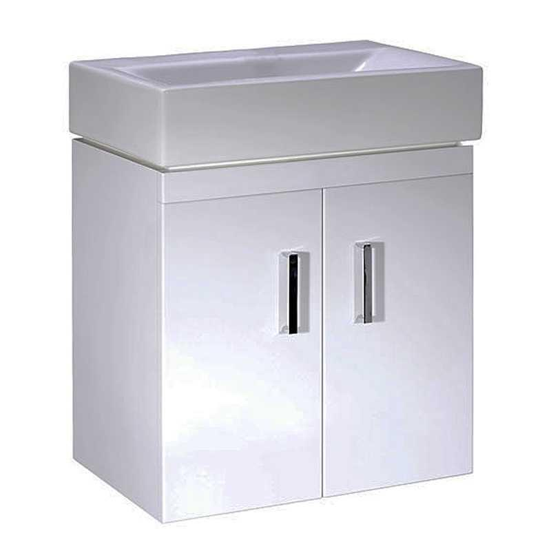 CHECKERS WHITE 450 WALL MOUNTED BASIN UNIT