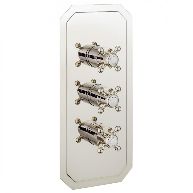 BELGRAVIA Thermo Shower Valve 3 Control Recessed NICKEL
