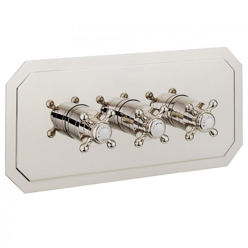 BELGRAVIA Thermo Shower Valve 3 Control Recessed Landscape NICKEL