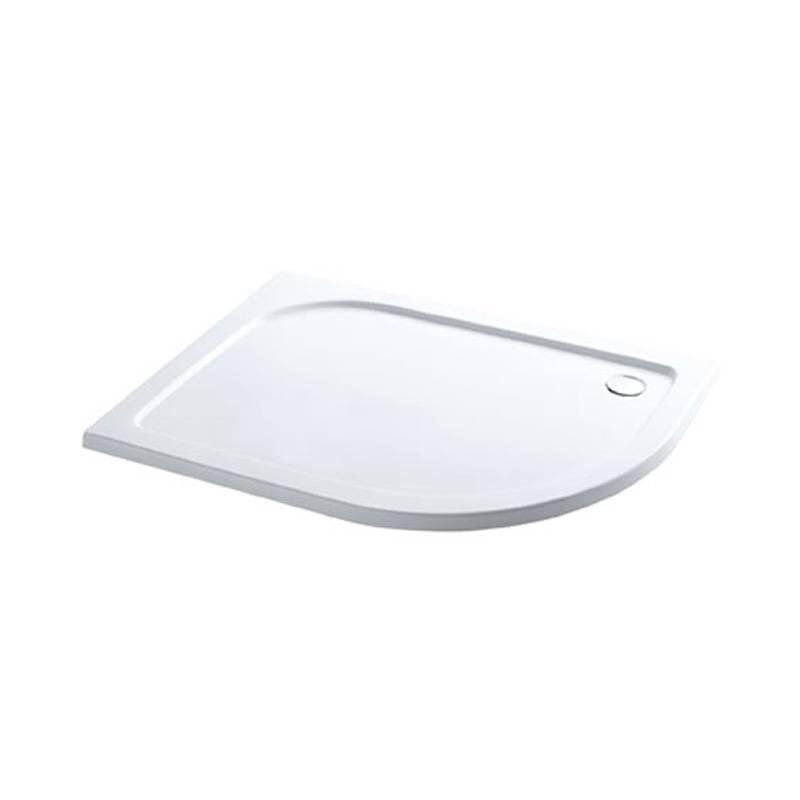 Volente 900 x 760 LH offset quad ABS resin tray White