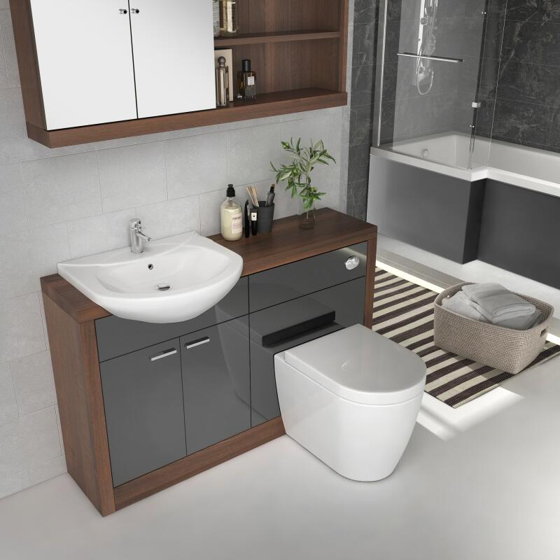 Lucido Vanity Unit Grey
