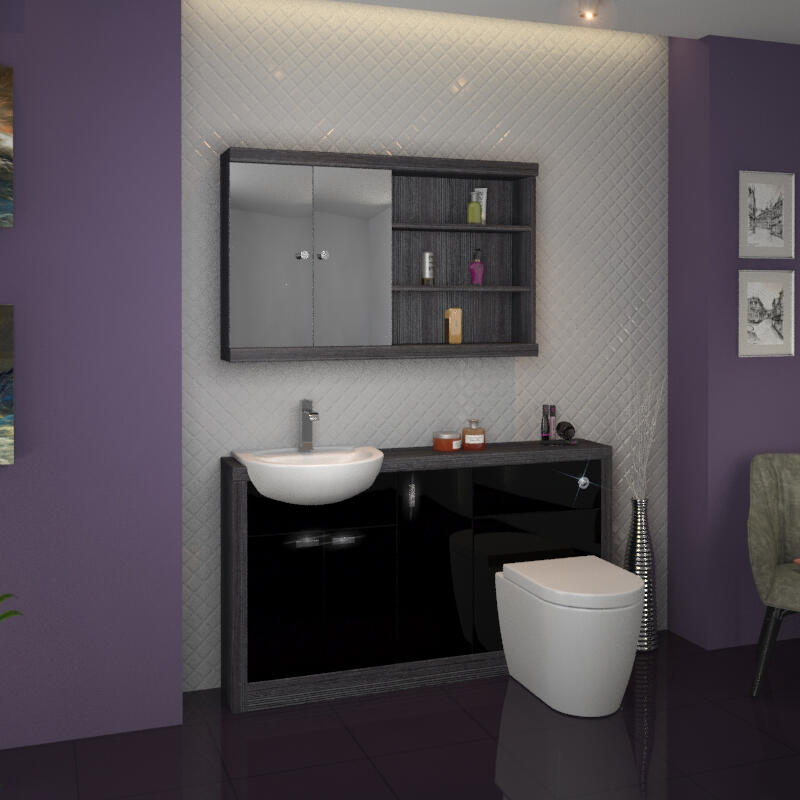 Hacienda 1500 Vanity Unit Black