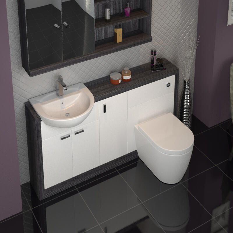 Hacienda 1500 Vanity Unit White