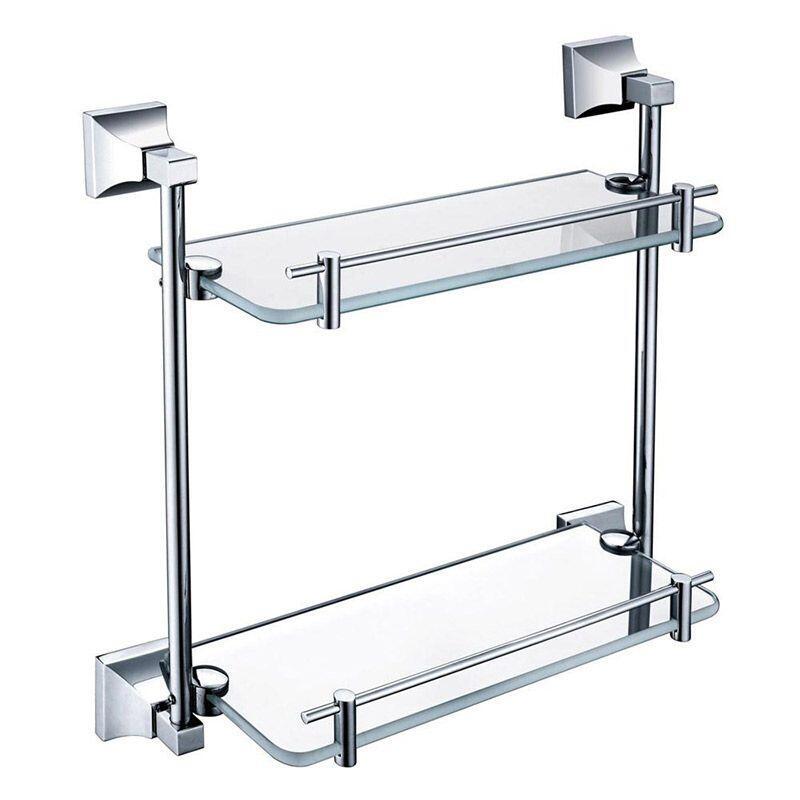 Chancery Double Glass Shelf Chrome