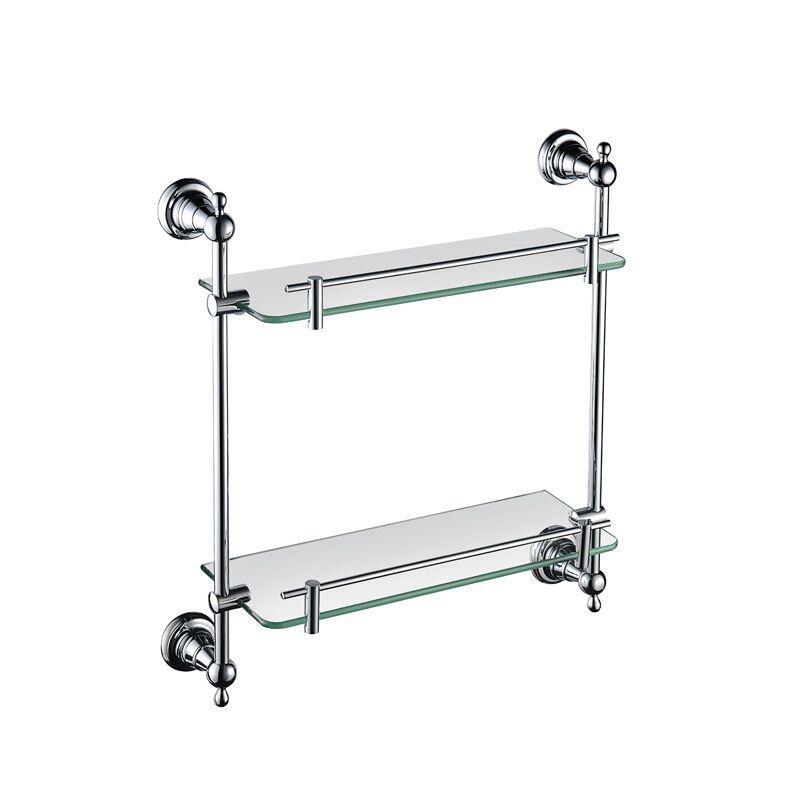 Holborn Double Glass Shelf Chrome