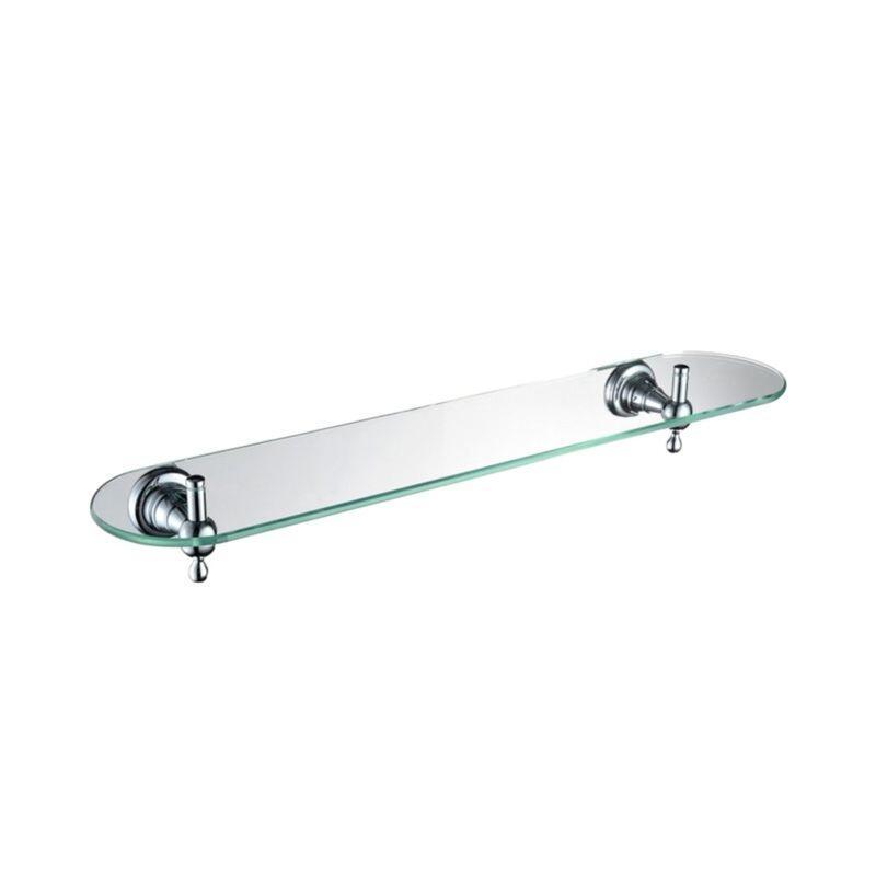 Holborn Single Glass Shelf Chrome