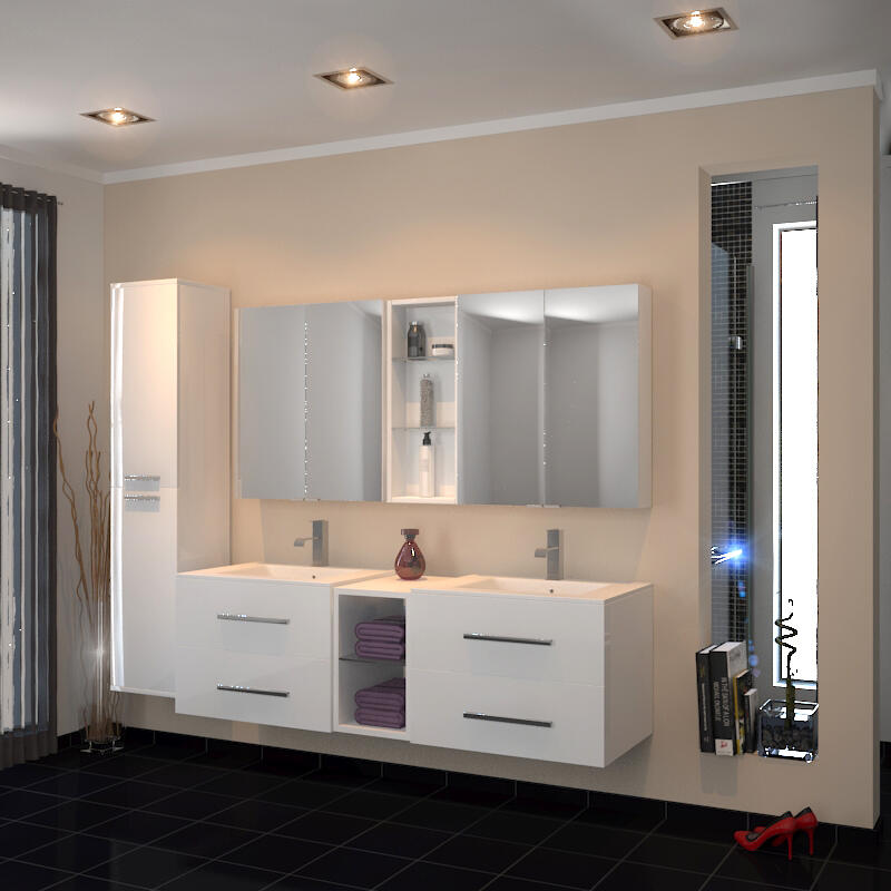 Sonix 1500 Wall hung Double Vanity Unit White