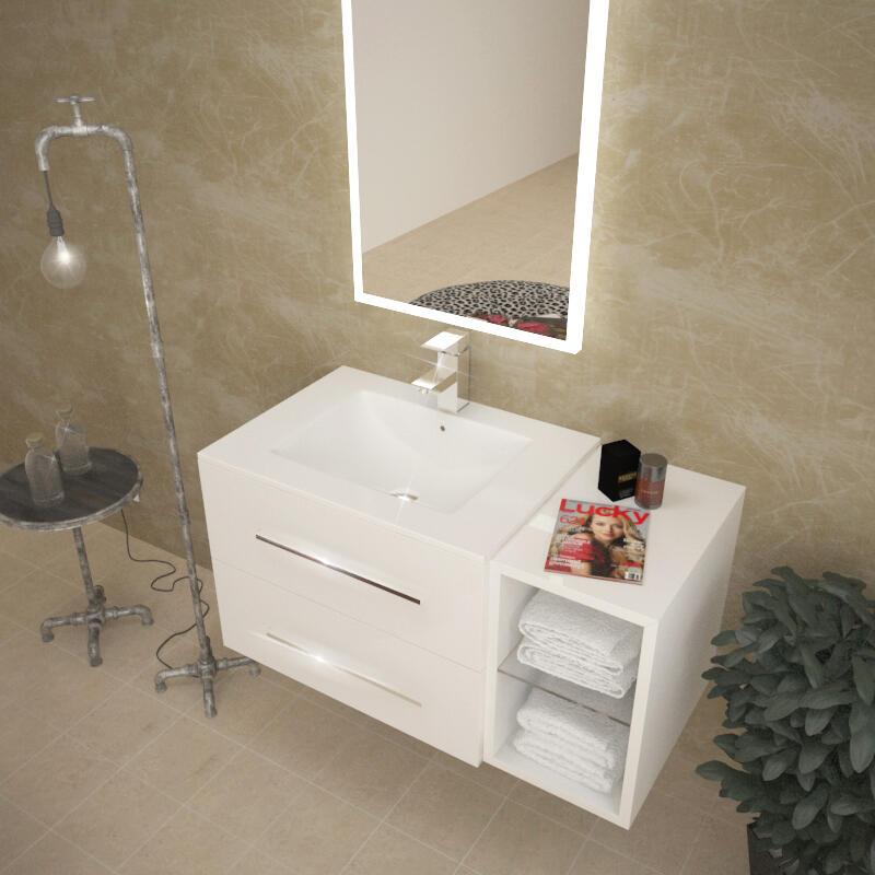 SONIX 890 WHITE WALL HUNG UNIT