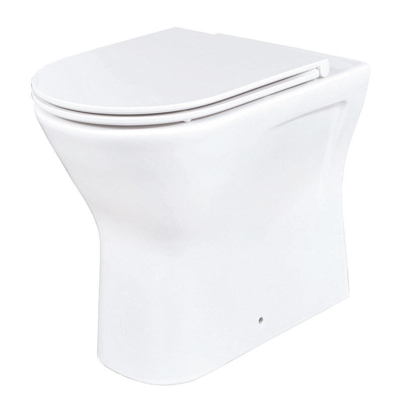Patello Rimless Back to Wall WC and Ultra Thin Soft Close Quick Release Seat