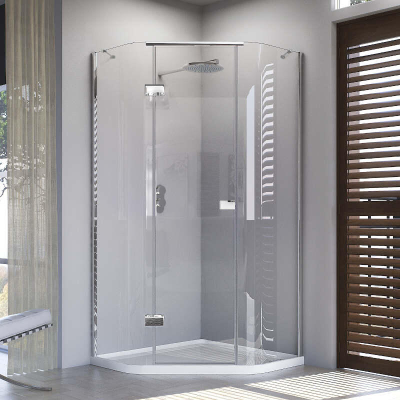 Illusion Quintesse Door with 900 x 900mm Tray - Left Hand Hinge