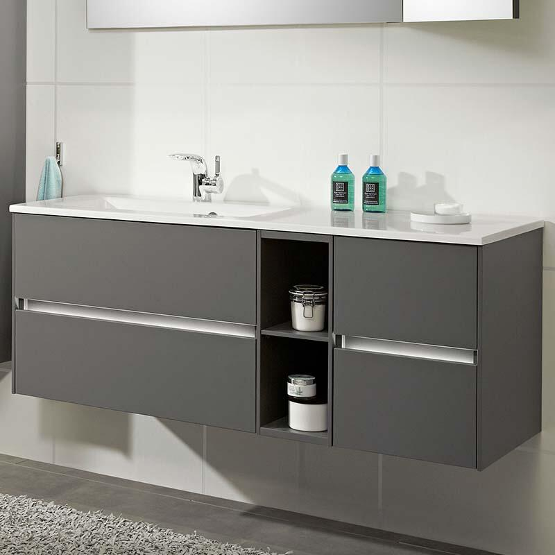 Solitaire 6010 1320 Bathroom Vanity Unit Lh Or Rh With 4 Drawers And Shelf Buy Online At Bathroom City