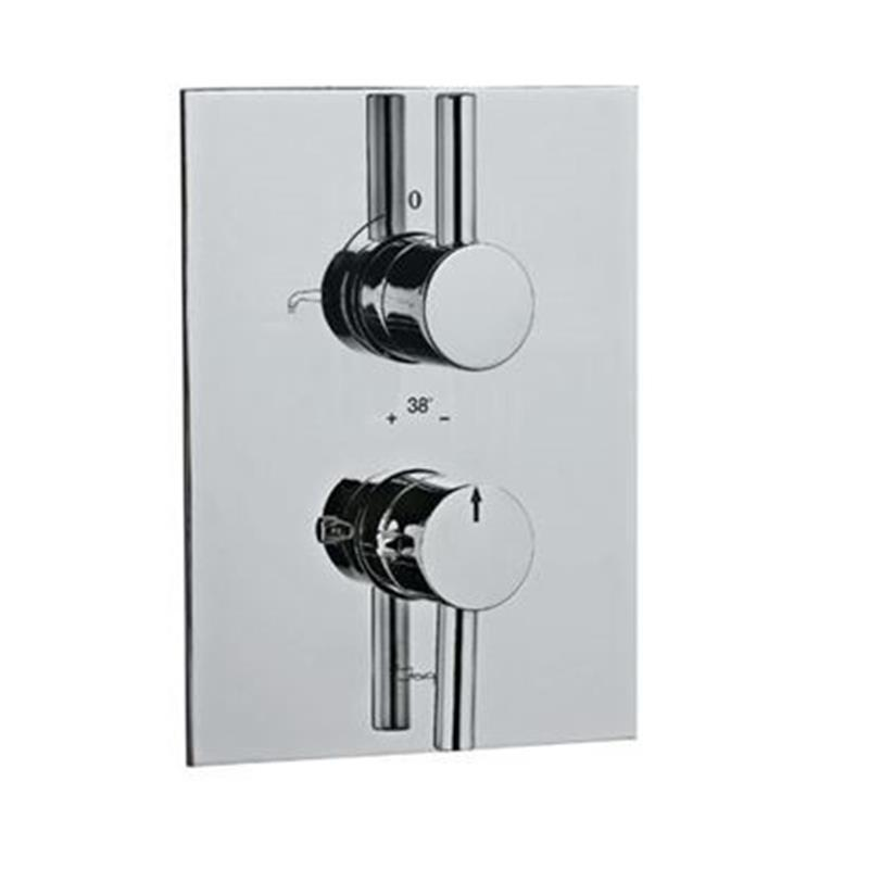 Florentine Thermostatic Concealed Bath and Shower Valve 20mm with Built-in Non Return Valves, HP 1.0