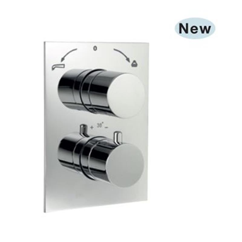 Florentine Thermostatic Concealed High Flow Bath and Shower Valve 20mm with Built-in Non Return Valves, HP 1.0