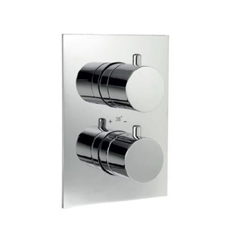 Florentine Thermostatic Concealed High Flow Shower Valve 20mm with Built-in Non Return Valves, HP 1.0