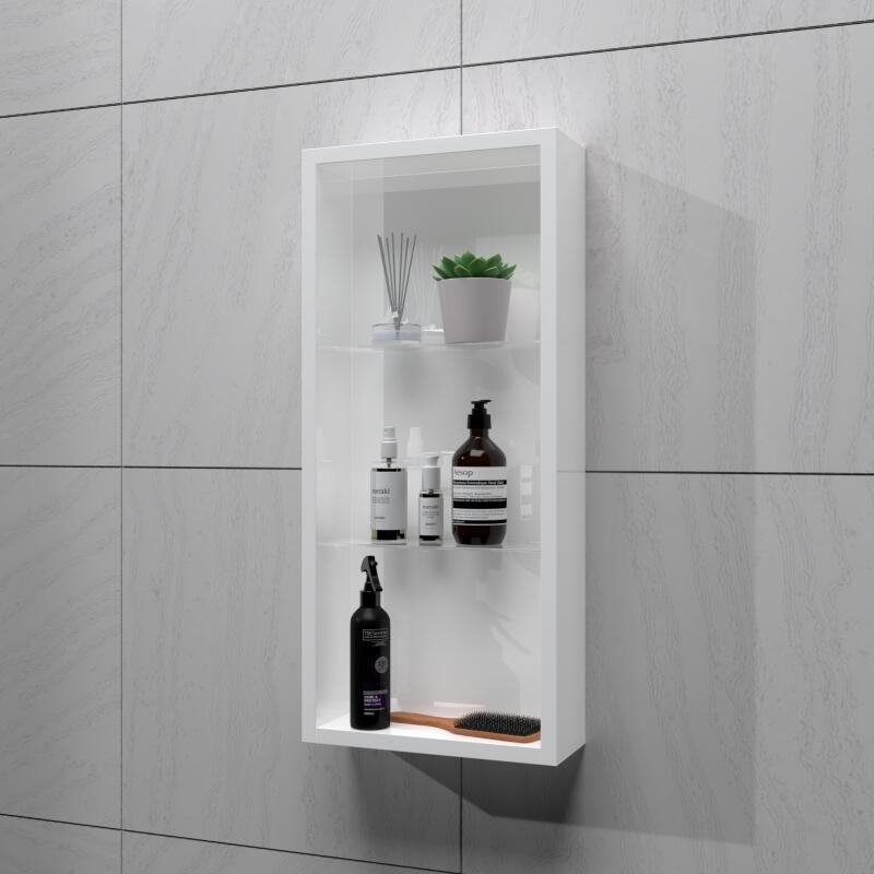SONIX 300 GLASS SHELF WALL STORAGE  WHITE