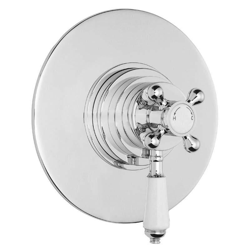 Chrome Victorian Thermo Dual Concealed Valve