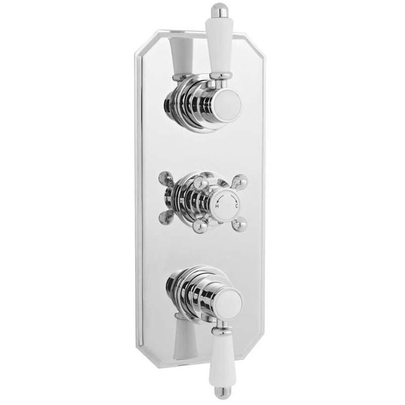 Chrome Victorian Thermo Triple Concealed Valve