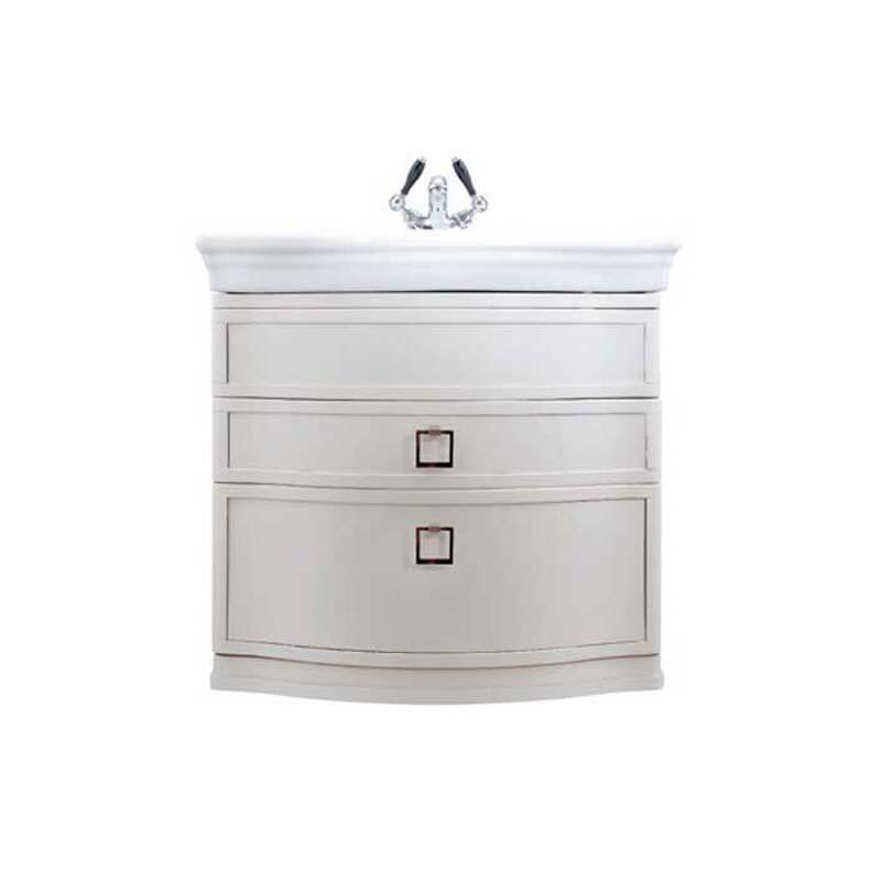 Verona Large Basin Wall Hung Vanity Unit Rosedale White