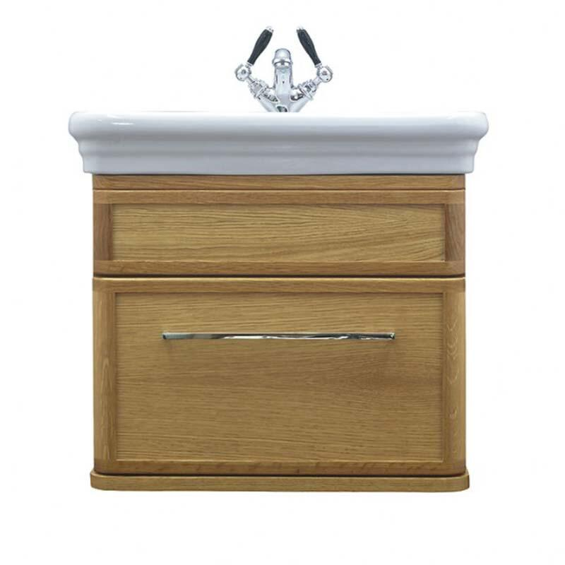 Canterbury Medium Wall Hung Vanity Unit Rosedale White