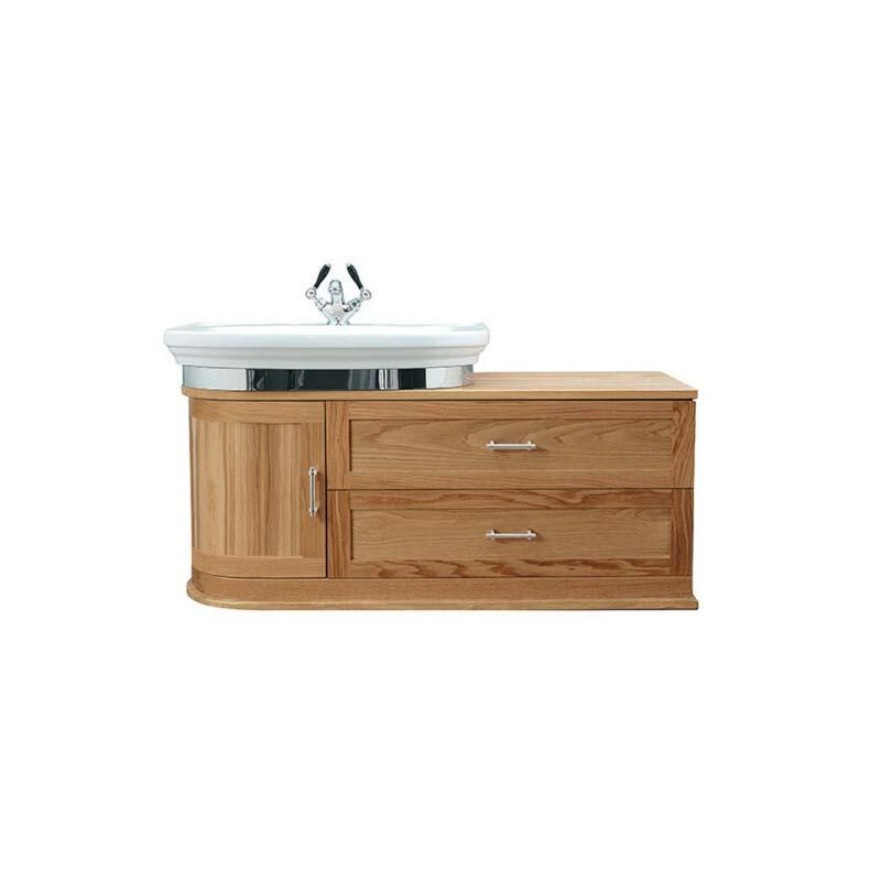 Carlyon Thurlestone Wall Hung Offset Vanity Unit L/H Rosedale White