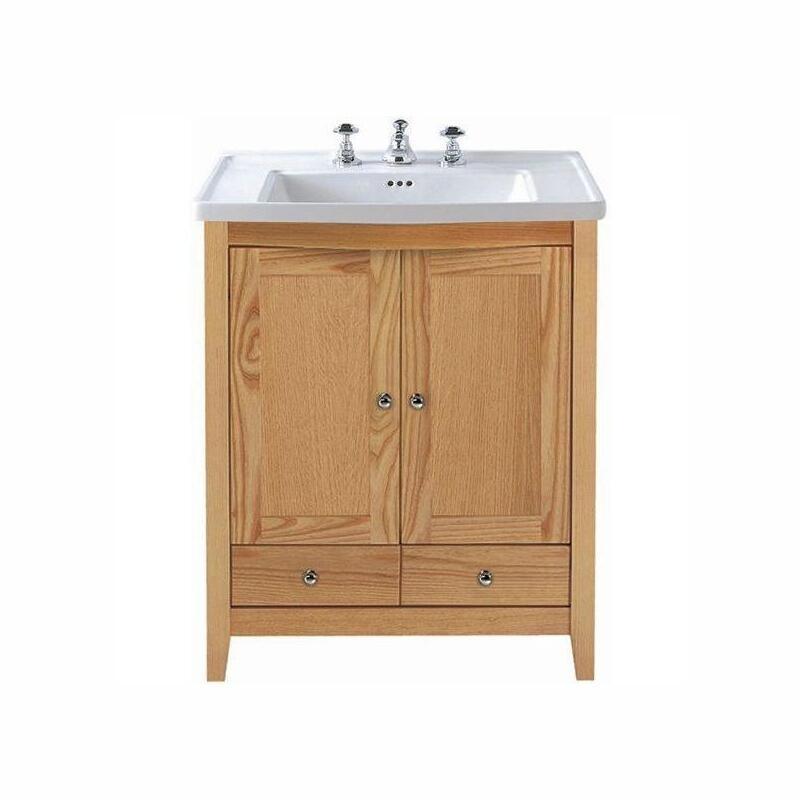 Westminster Esteem vanity unit 2 wooden doors, 2 drawers Rosedale White