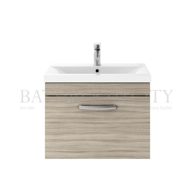 600 WH Single Drawer Vanity With Basin A Drift wood