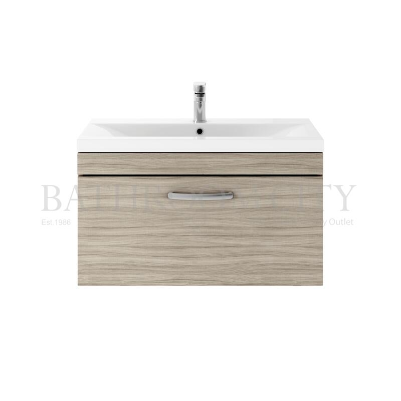 800 WH Single Drawer Vanity With Basin A Drift wood