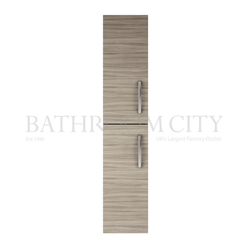 Tall Wall Hung Unit 2-Door driftwood