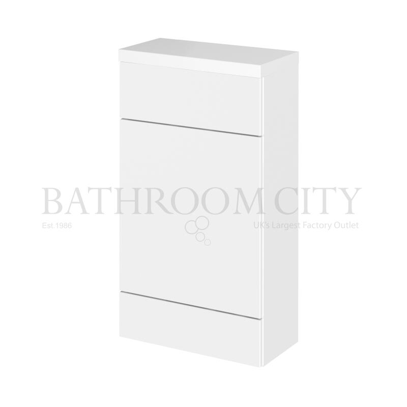 500mm Compact WC Unit & Polymarble Top Gloss White