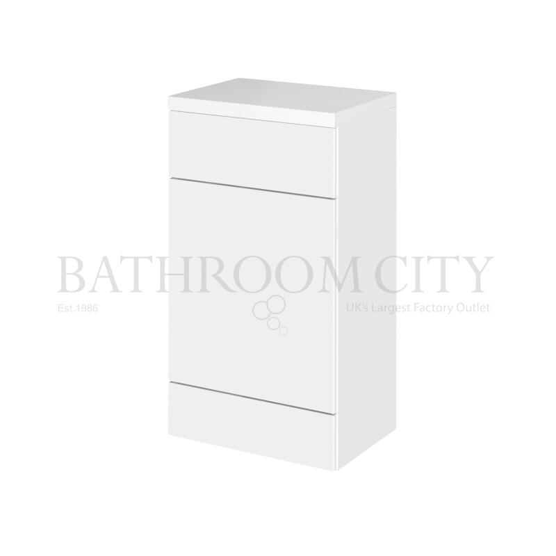 500mm FD WC Unit & Polymarble Top Gloss White