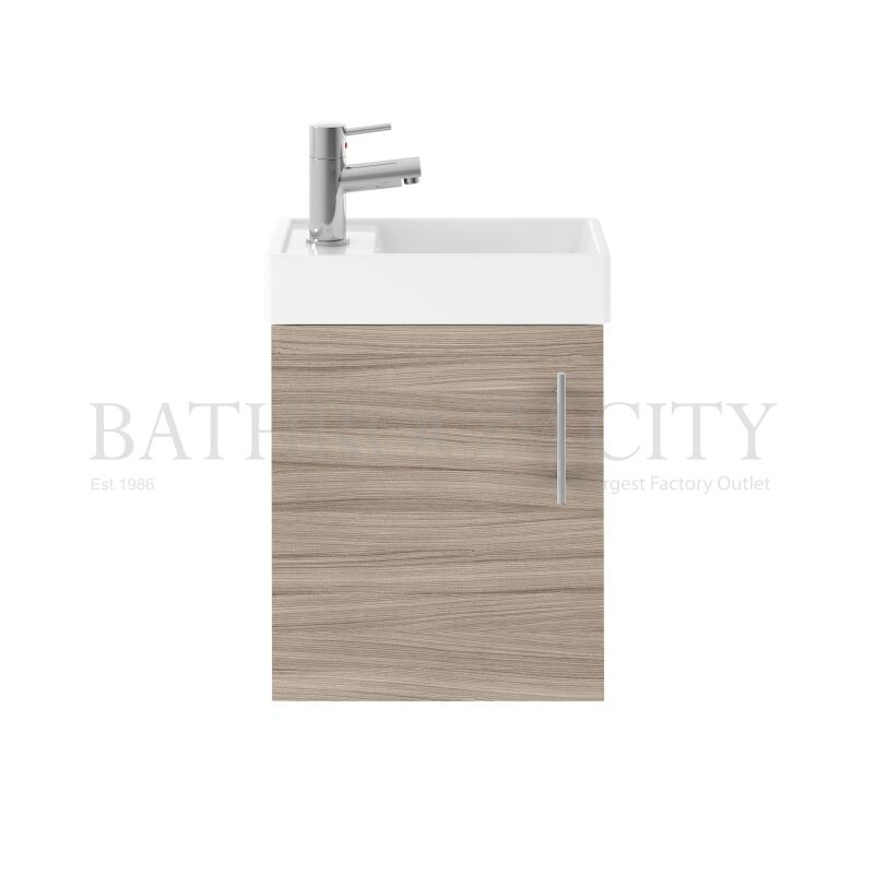 400 Single Door WH Unit and Basin - Driftwood