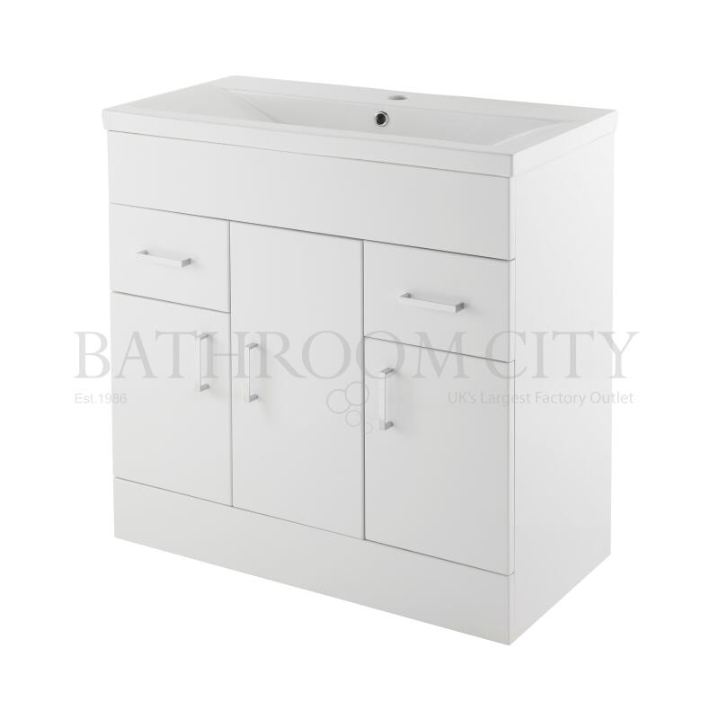 Eden White Minimalist 800mm Basin Unit