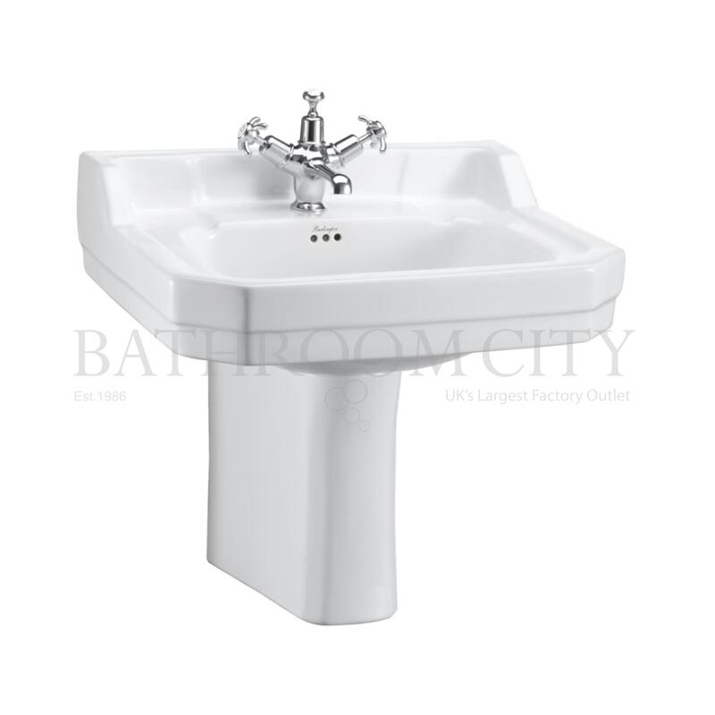 Edwardian Basin 56cm and Semi pedestal 1TH