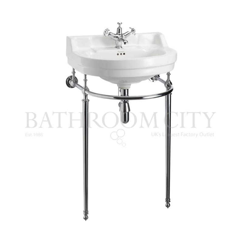 Edwardian Round  Basin 56cm 1TH and Wash Stand