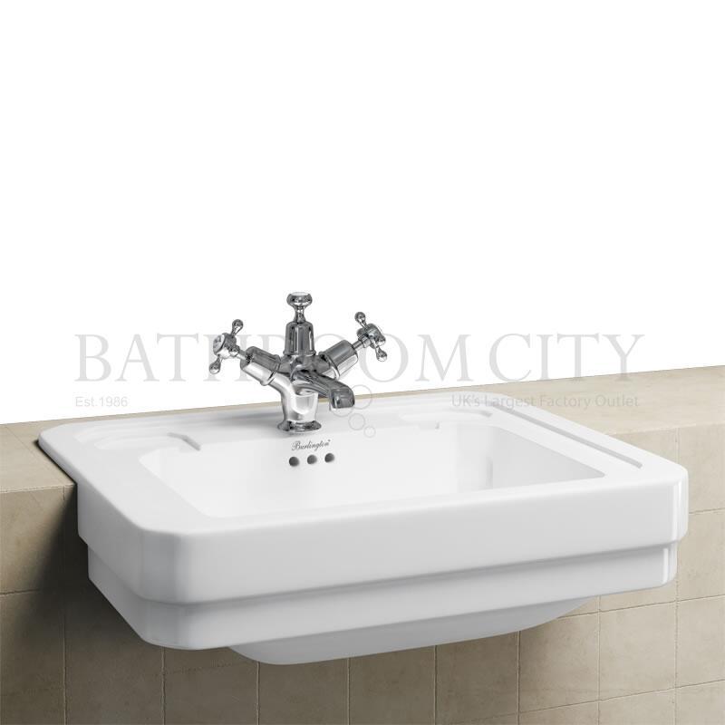 Semi Recessed Basin 58cm 1TH