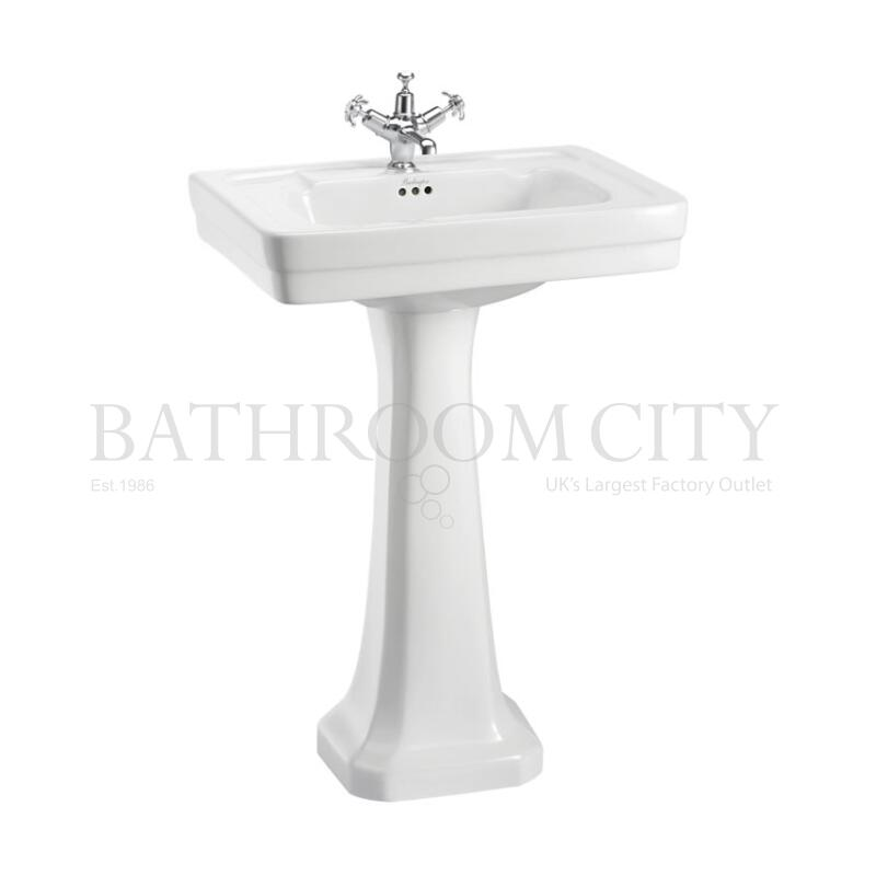 Contemporary Basin 58cm 1TH  and Pedestal
