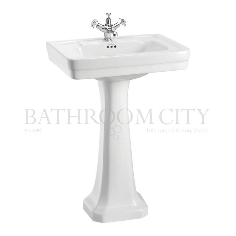 Contemporary Basin 58cm 1TH  and Regal Pedestal