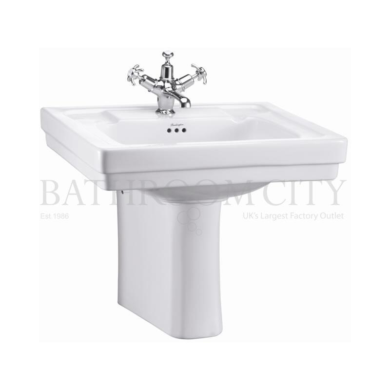 Contemporary Basin 58cm 1TH  and Semi Pedestal