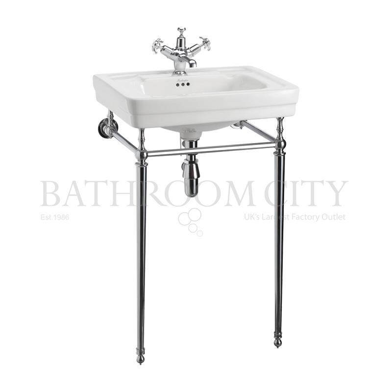 Contemporary Basin 58cm 1THand Chrome Washstand