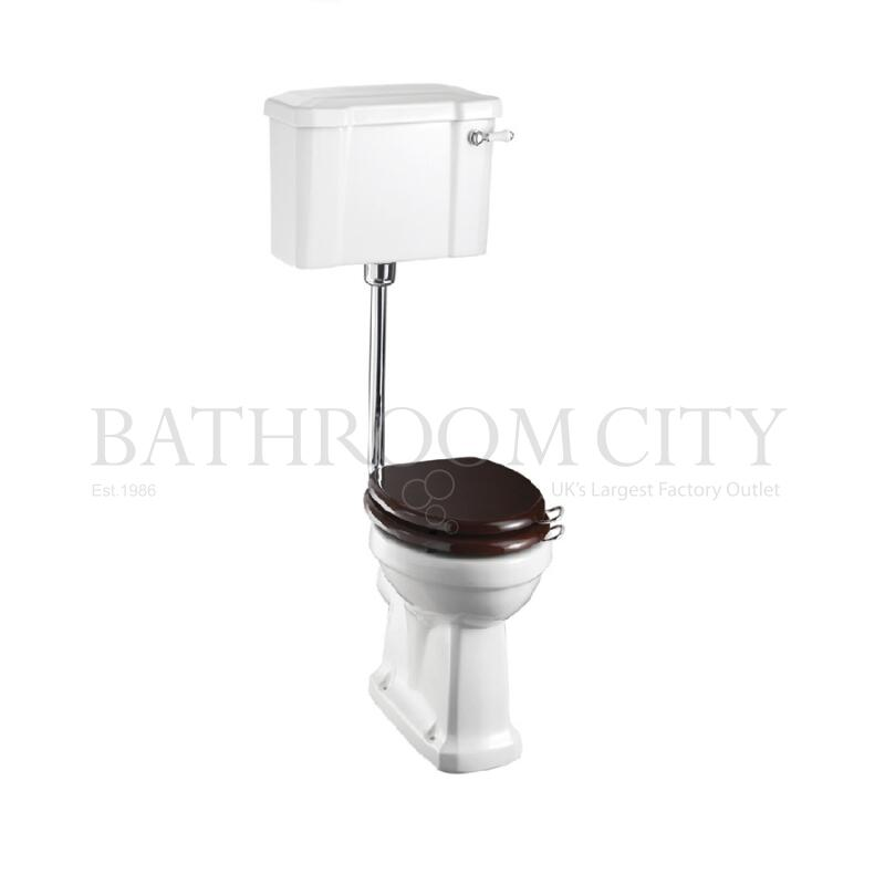 Low level toilet Pan with lever cistern and flush kit