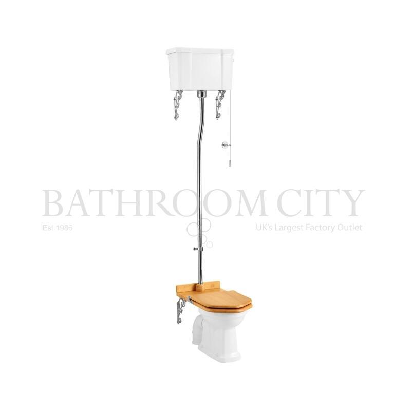 Regal High level toilet pan with white ceramic cistern and flush kit