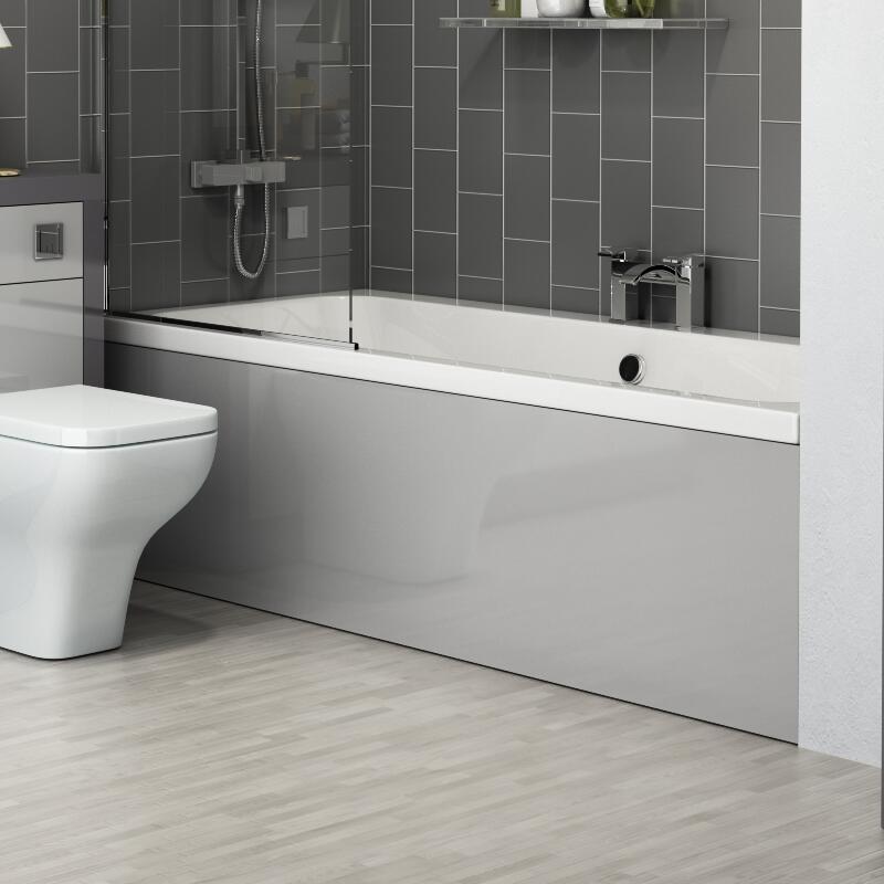 Grove Bath Panels Grey Various Sizes Front End L Shape