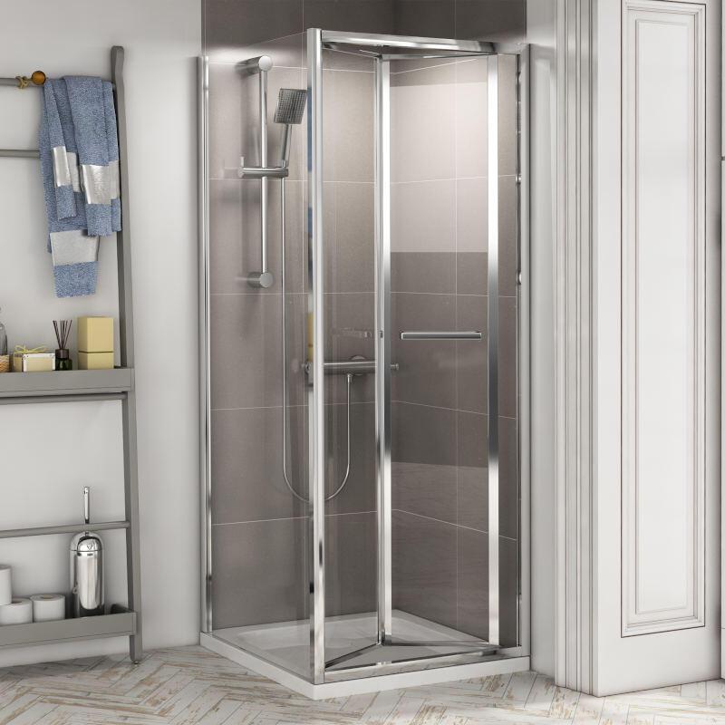 Radiant Reduced Height Shower Door: Bifold, 1750mm x 800mm