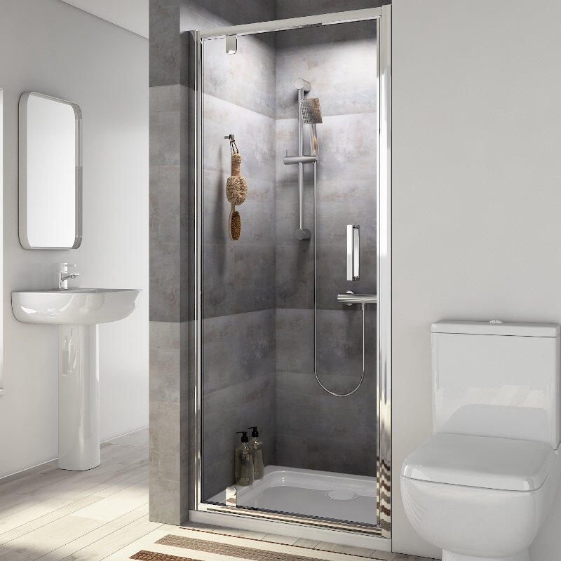 Radiant Reduced Height Shower Door: Pivot, 1750 x 760