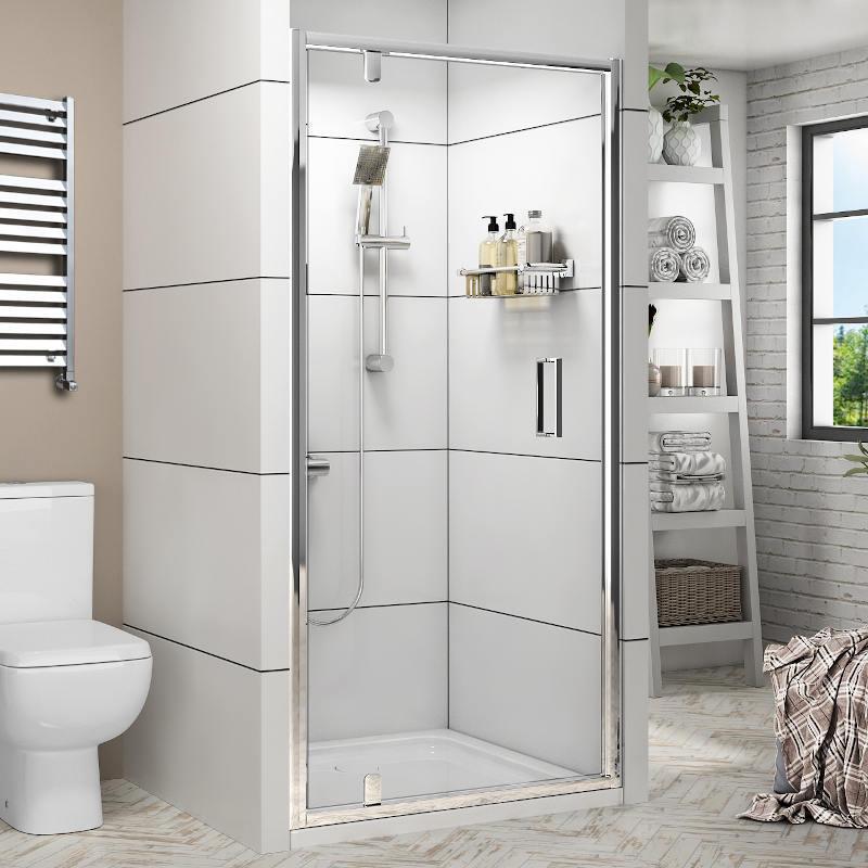 Radiant Reduced Height Shower Door: Pivot, 1750mm x 900mm