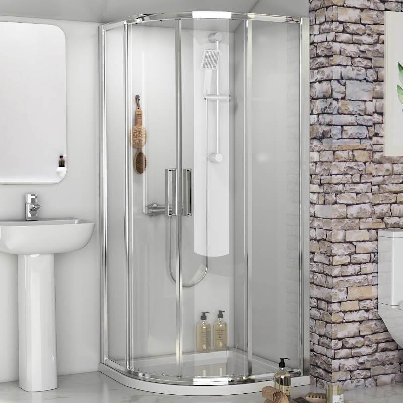 Radiant Reduced Height Shower Enclosure: Quadrant, 1750mm x 800mm