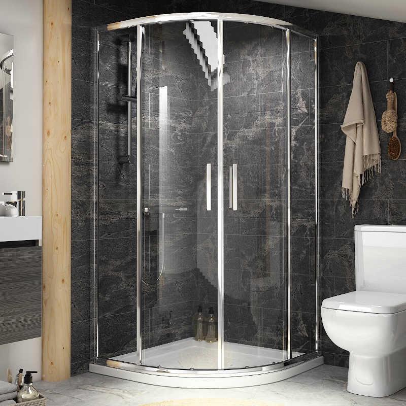 Radiant Reduced Height Shower Enclosure: Quadrant, 1750mm x 900mm