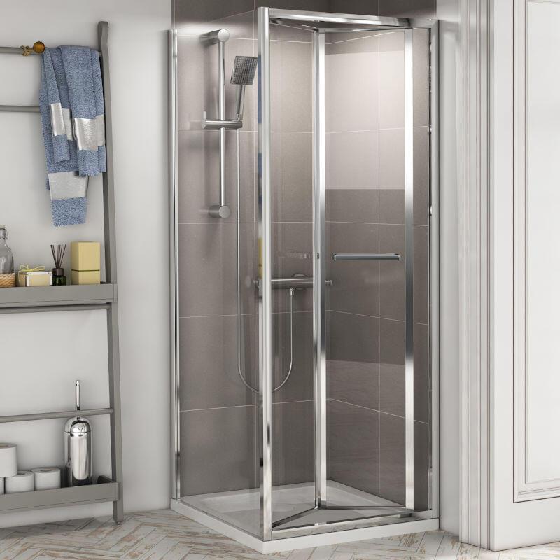Radiant Reduced Height Shower Door: Bifold, 1750mm x 700mm
