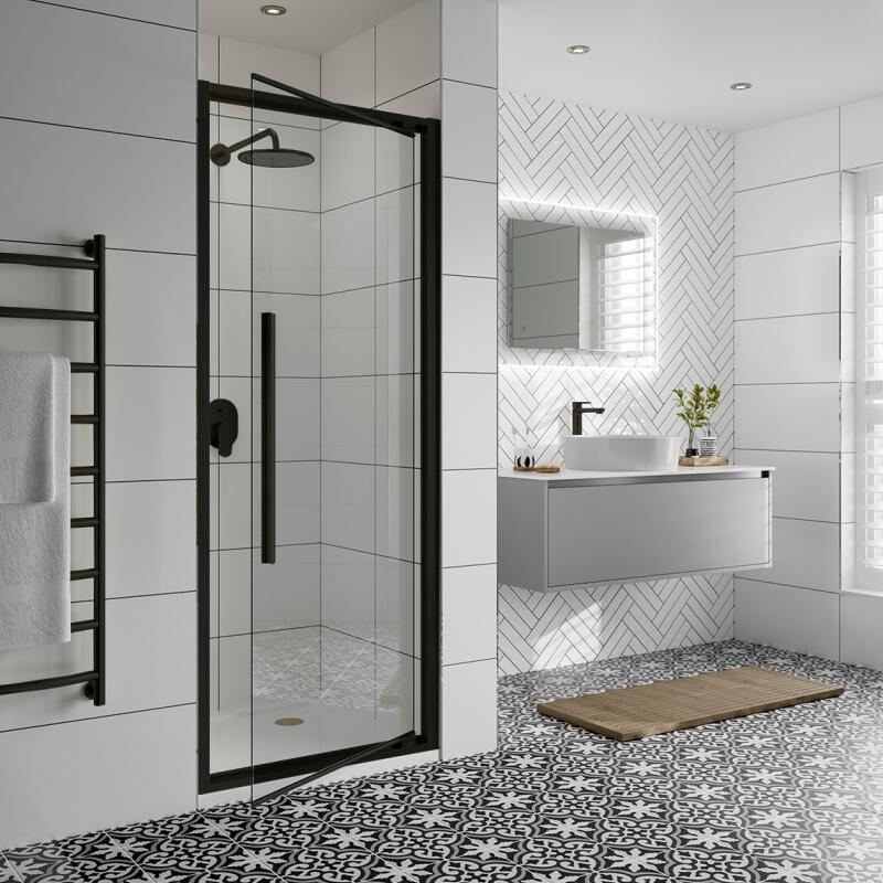 Hinged Shower Door: 700mm Width